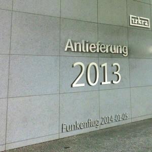 Iskra - Funkenflug 2014-01-05: Anlieferung 2013
