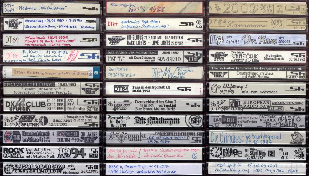 Radiomitschnitte von DT64 und MDR Sutnik (Collage)
